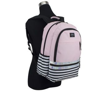 Handbags - Pink Holographic stripe school backpack 🎒 NEW